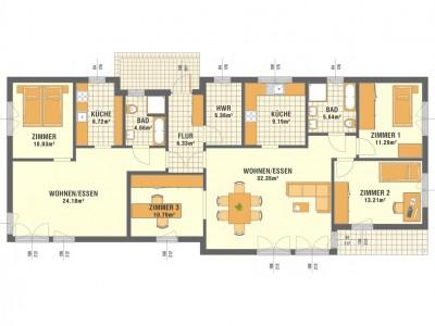 Grundrisse EG - 2 Wohnungen